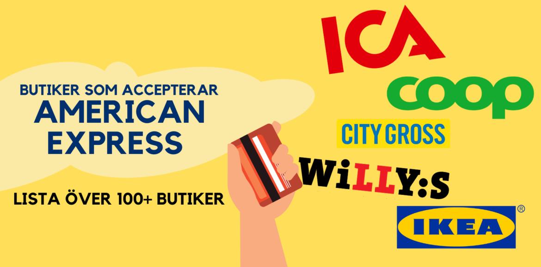 lista över butiker som accepterar american express